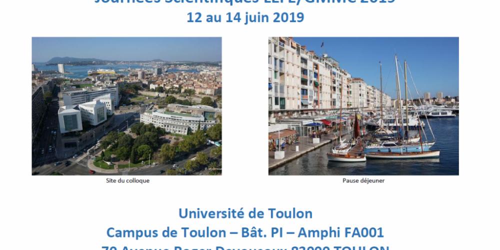 Journées Scientifiques LEFE/GMMC 2019