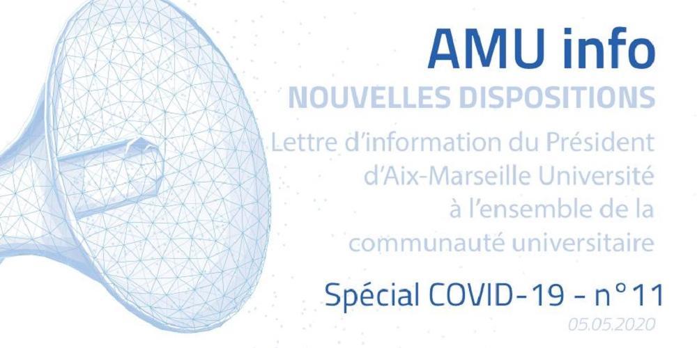 AMU Info COVID-19 n°11 - spécial Reprise d'activité