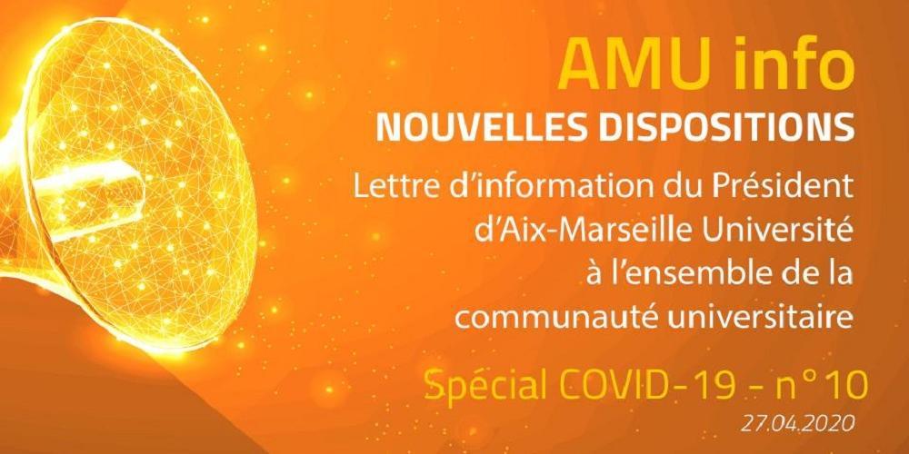 AMU Info - spécial COVID19 - N°10