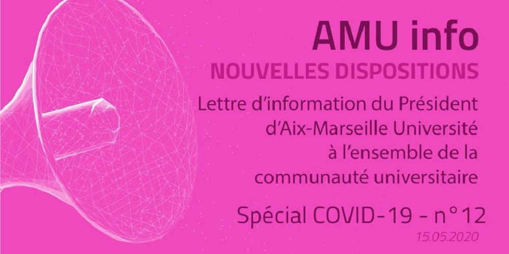 AMU Info - COVID19 - n°12 - Reprise phase 2