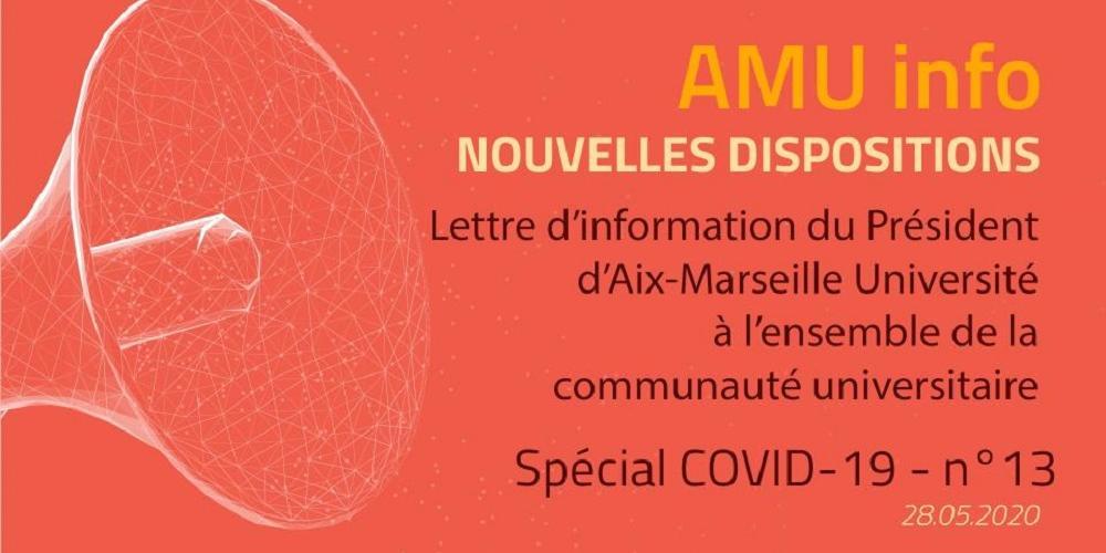 AMU Info - spécial COVID19 - N°13