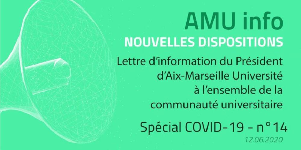 AMU Info n°14 - COVID-19