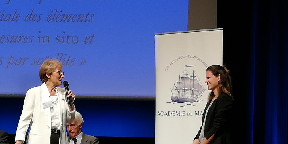 Louise Rousselet (OPLC team) is awarded the thesis prize of the 2019 Academy of the Marine of the Year