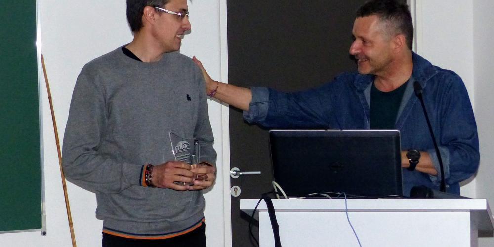 Marc Tedetti a reçu le Prix Cédric Garnier 2019, attribué pour la première fois