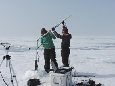 Ice camp sampling