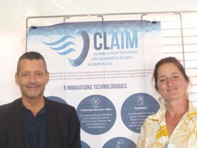 Richard Sempéré & Mélilotus au stand CLAIM H2020